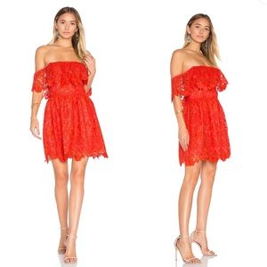 Lovers + Friends  Dream Vacay Dress in Red